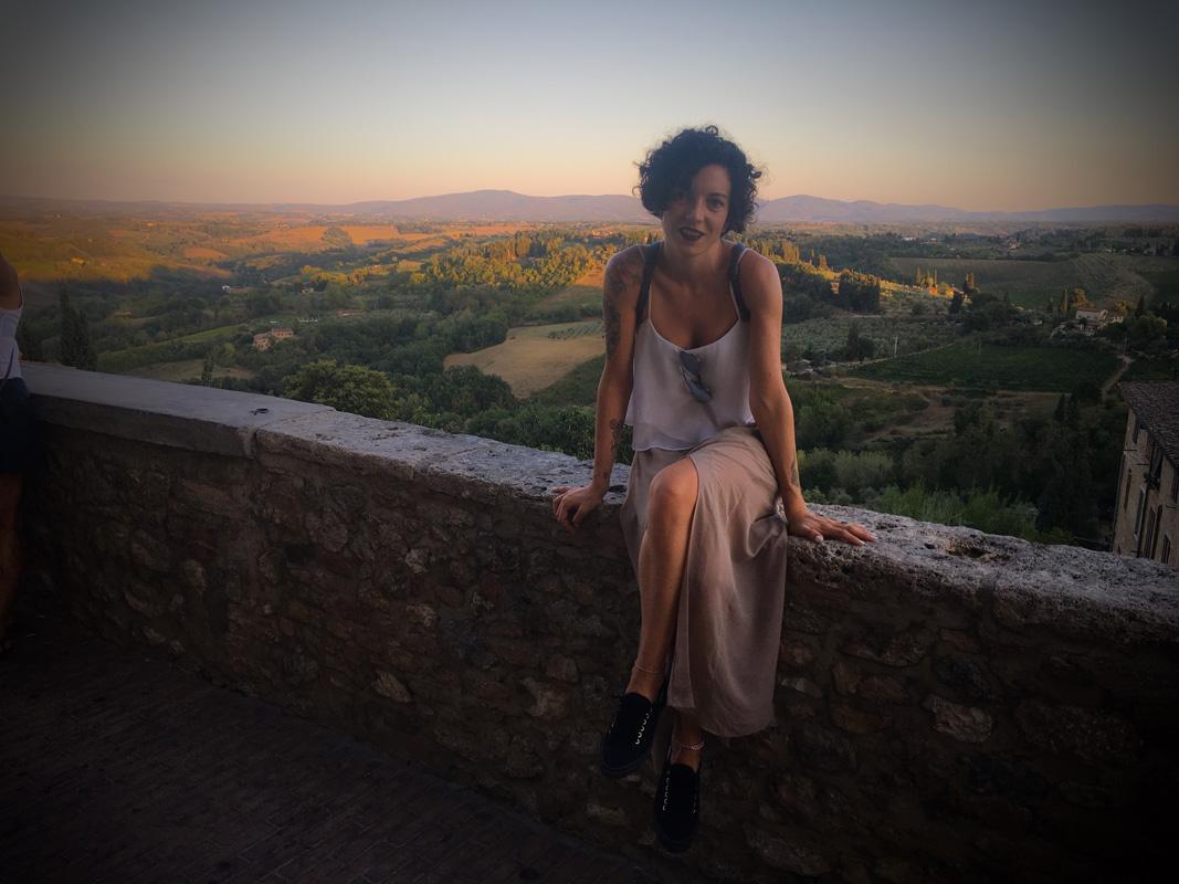 Tramonto a San Gimignano